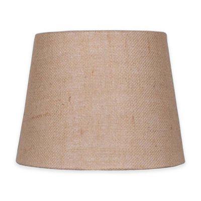Mix & Match Small 10-Inch Natural Burlap Hardback Drum Lamp Shade in Tan