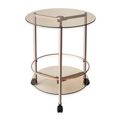 Adesso® Gibson Rolling End Table in Copper