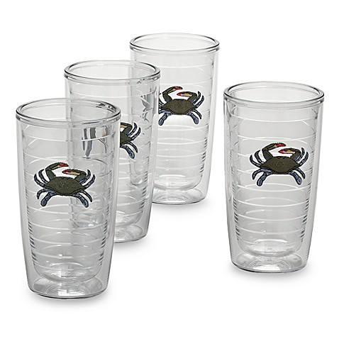 Blue Crab 16-Ounce Tumblers (Set of 4)