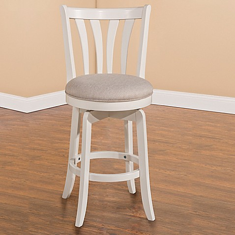 Buy Hillsdale Whitman 26 Inch Swivel Counter Stool In White From Bed Bath Beyond