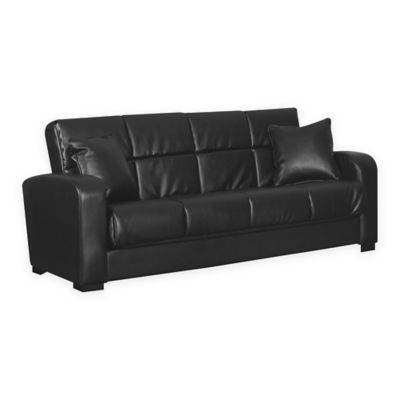 Handy Living Damen Convert-a-Couch® in Black Renu Leather