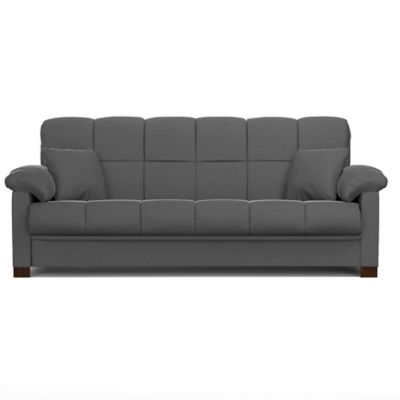 Handy Living Maurice Pillow Top Arm Convert-a-Couch® in Gray