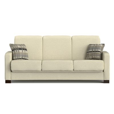 Handy Living Raisin Convert-a-Couch® in Ivory Chenille