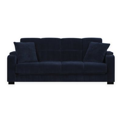 Handy Living Susan Storage Arm Convert-a-Couch® in Navy Velvet