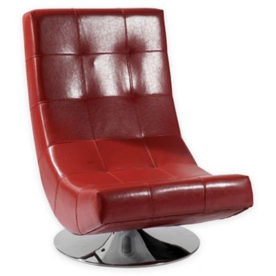 Delan Swivel Chair in Red