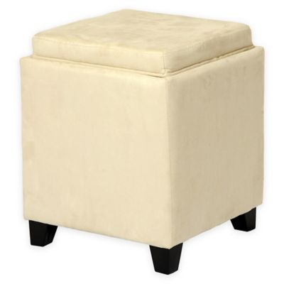 Buy Angelo Home Storage Ottoman In Black Cream From Bed