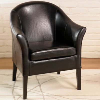 Vivo Leather Club Chair in Black