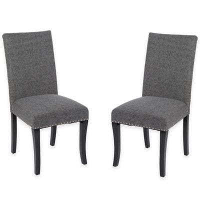Watson Fabric Side Chairs in Light Grey (Set of 2)