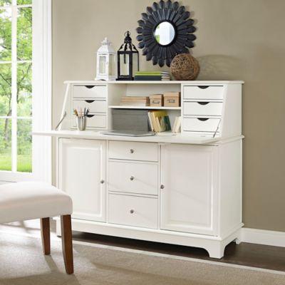 Crosley Sullivan Secretary Desk in White
