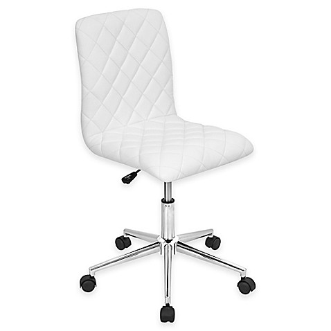 LumiSource Caviar Office Chair in White