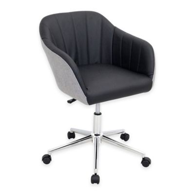 LumiSource Shelton Chair in Grey/Black