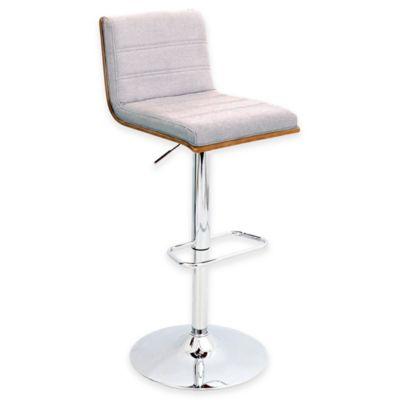 LumiSource Vasari Barstool in Walnut with Grey Seat