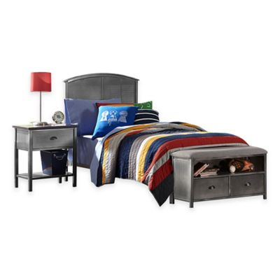 Hillsdale Urban Quarters Full Panel Bed Set with Footboard Bench
