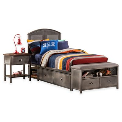 Hillsdale Urban Quarters Full Panel Storage Bed Set with Bench