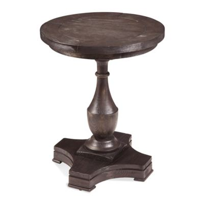 Bassett Mirror Company Hanover Round End Table in Coffee Bean