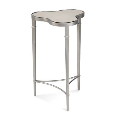 Bassett Mirror Company Clover Scatter Table in Platinum