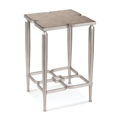 Bassett Mirror Company Christie Accent Table in Silver