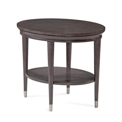 Bassett Mirror Company Essex End Table in Soft Grey