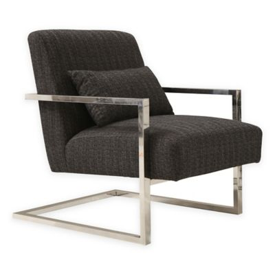 Armen Living Camberg Accent Chair in Charcoal