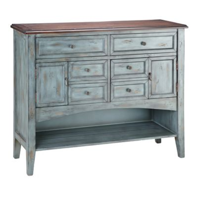 Stein World Hartford 6-Drawer Buffet in Blue