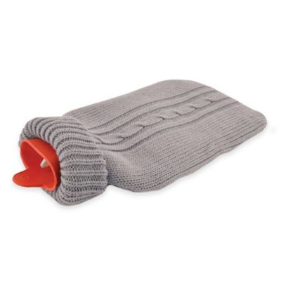 Bios Living Hot Water Bottle with Cozy in Grey