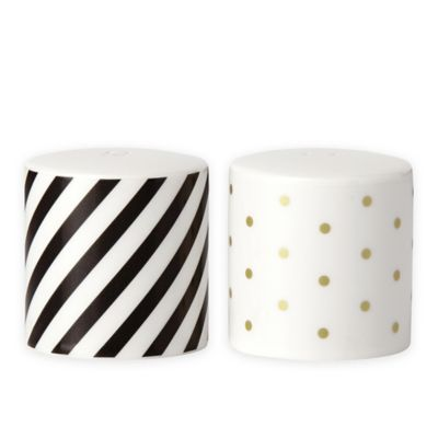 kate spade new york Fairmount Park™ Salt and Pepper Shakers in Black/Gold