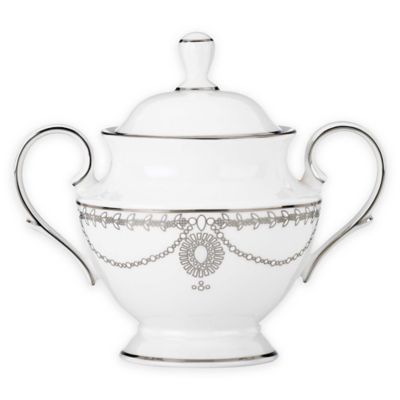 Marchesa by Lenox® Empire Pearl Covered Sugar Bowl