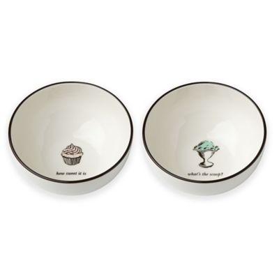 kate spade new york Concord Square™ Cause a Stir Dessert Bowls (Set of 2)