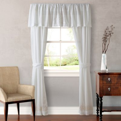 Tommy Bahama® Heirloom Embroidery 84-Inch Window Curtain Panel Pair in Coconut