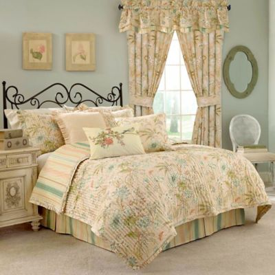 Waverly® Cape Reversible Twin Quilt Set in Coral