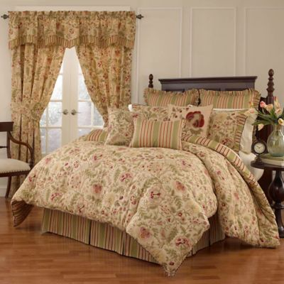 Waverly® Imperial Dress Reversible King Comforter Set in Antique