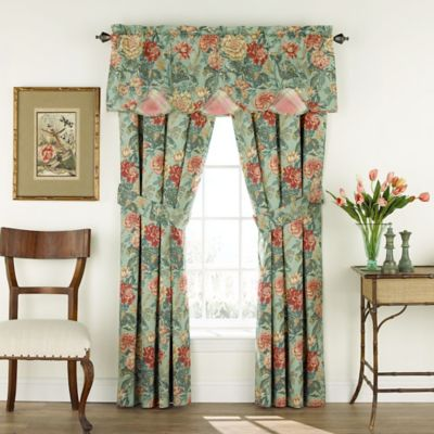 Waverly® Sonnet Sublime Scalloped Floral Valance in Jewel