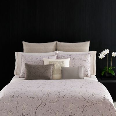 Vera Wang Winter Blossoms King Duvet Cover in Purple