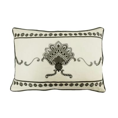 Waverly® Paisley Pizzazz Embroidered Oblong Throw Pillow in Licorice