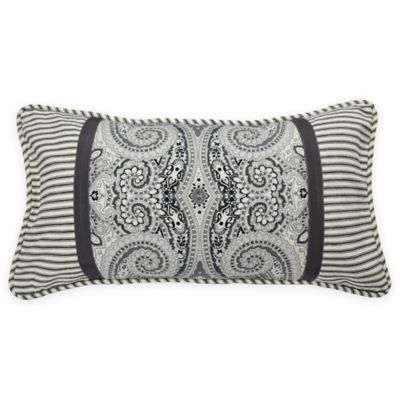 Waverly® Paisley Pizzazz Pieced Oblong Throw Pillow in Licorice