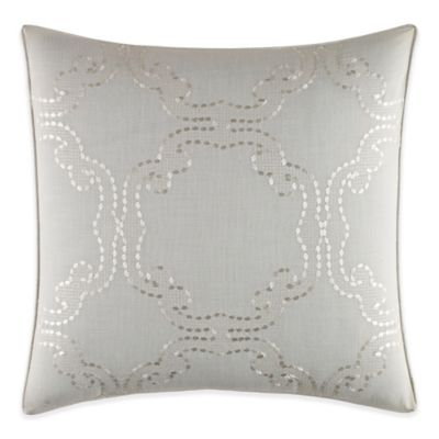 Tommy Bahama® Heirloom Embroidery Circle Square Throw Pillow in Coconut