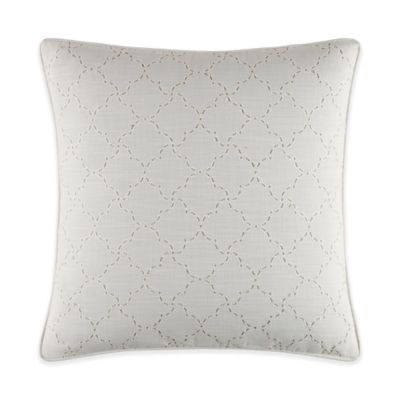 Tommy Bahama® Heirloom Embroidery Scallop Square Throw Pillow in Coconut