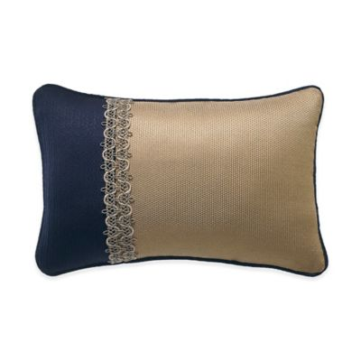 Croscill® Imperial Chenille Oblong Throw Pillow in Navy/Taupe
