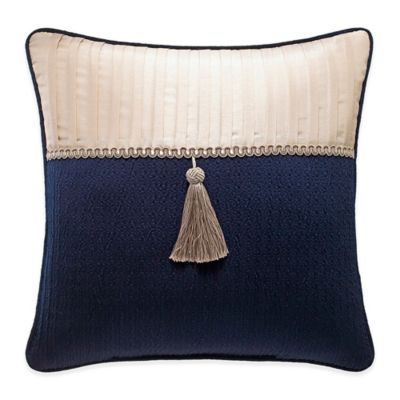 Croscill® Imperial Tassel Square Throw Pillow in Navy/Champagne
