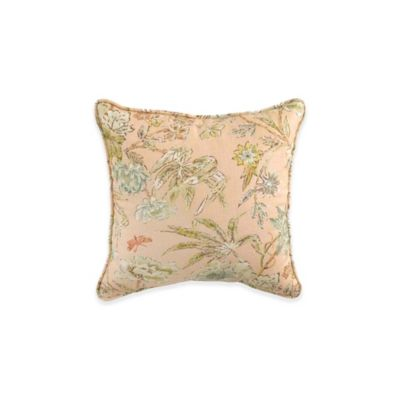 Waverly® Cape Quilted Square Throw Pillow in Coral