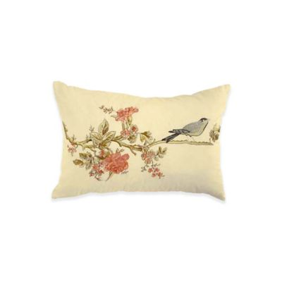 Waverly® Cape Embroidered Oblong Throw Pillow in Coral