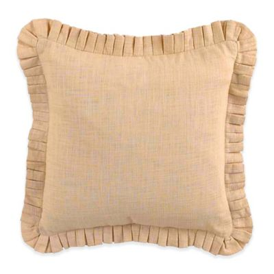 Waverly® Cape Stacked Pleated Square Throw Pillow in Coral