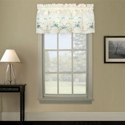 White Rose Curtain Valance