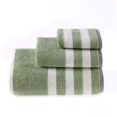 Riviera Stripe Hand Towel in Green