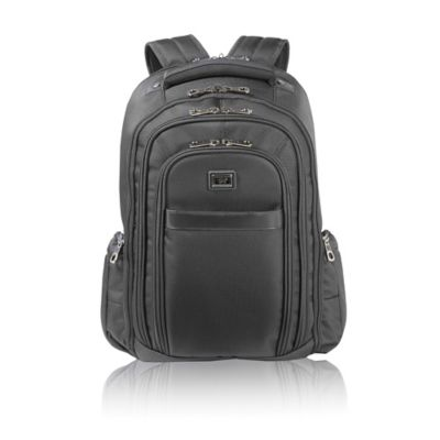 Latitude 40°N™ Freehold Check Point Friendly Laptop Backpack in Black