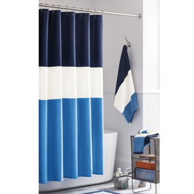 Keeco Boardwalk Shower Curtain in Navy