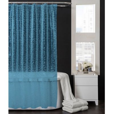 Pebbles 70-Inch x 72-Inch PEVA Shower Curtain in Aqua Blue