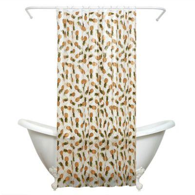 India Ink Pineapple PEVA Shower Curtain