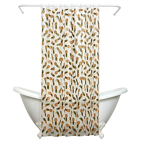 Buy India Ink Pineapple PEVA Shower Curtain From Bed Bath