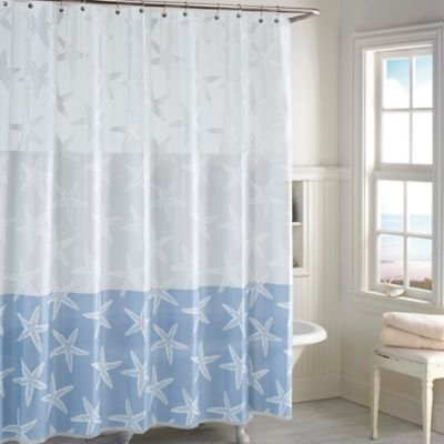 Starfish PEVA Shower Curtain